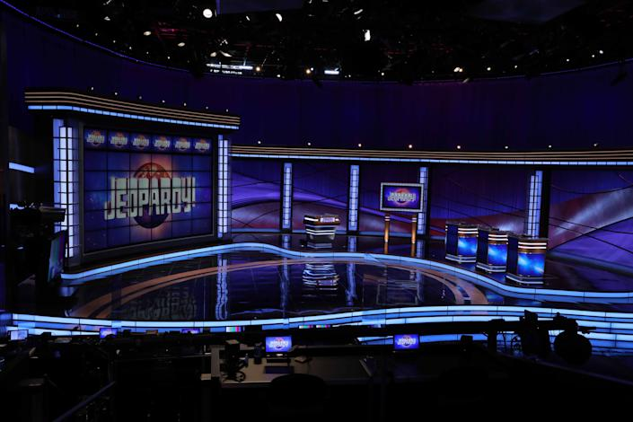 """The """"Jeopardy!"""" set for the new season that begins airing Sept. 14, 2020."""
