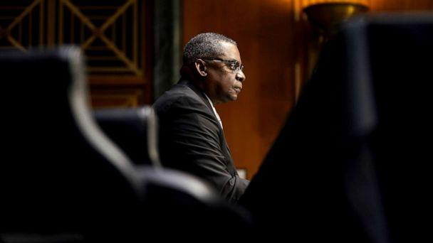 PHOTO: Secretary of Defense nominee Lloyd Austin listens during his conformation hearing before the Senate Armed Services Committee on Capitol Hill, Jan. 19, 2021. (Greg Nash/Pool via AP)
