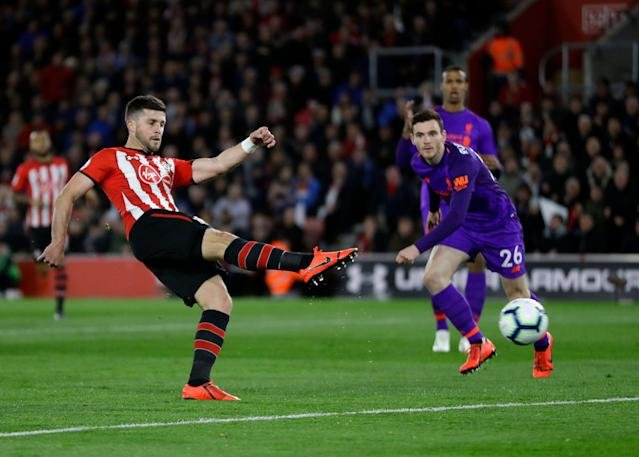 "It took <a class=""link rapid-noclick-resp"" href=""/soccer/teams/southampton/"" data-ylk=""slk:Southampton"">Southampton</a>'s Shane Long just seven seconds to score against Watford. (AP Photo/Kirsty Wigglesworth)"