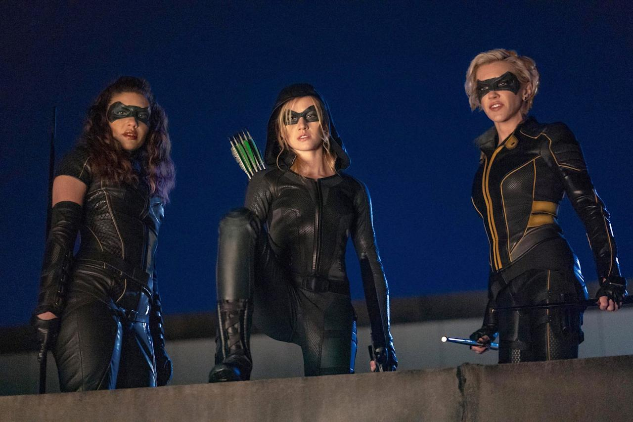 "<p>The <strong>Arrow</strong> spinoff hasn't officially been ordered to series yet, but the penultimate <strong>Arrow</strong> episode serves as a backdoor pilot for the pitched sequel series. It takes place in Star City 2040, where Oliver and Felicity's daughter Mia Queen is ""woken up"" to memories of her superhero life by 2020's Laurel Lance and Dinah Drake. The Canaries have arrived to deal with an imminent threat that requires Mia's help, drawing her back into action as the new Green Arrow.</p> <p><strong>Premiere date:</strong> TBA, but the Jan. 21 episode of <strong>Arrow</strong> was the show's backdoor pilot.<br></p>"