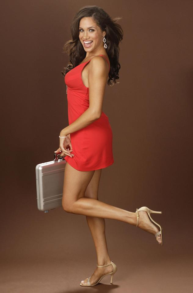 Meghan was one of the Deal Or No Deal briefcase girls a decade ago.