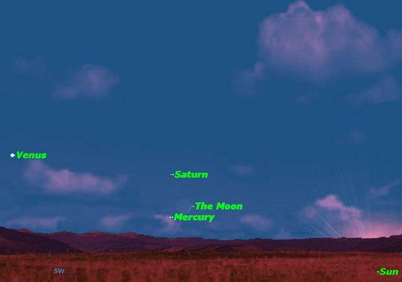 Moon Dances with Three Planets in Sky Shows on Sunday, Tuesday