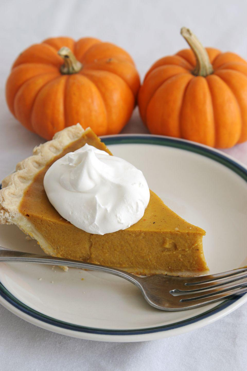 "<p><a href=""https://www.goodhousekeeping.com/food-recipes/g3986/pumpkin-pie-recipes/"" rel=""nofollow noopener"" target=""_blank"" data-ylk=""slk:Pumpkin pie"" class=""link rapid-noclick-resp"">Pumpkin pie</a> and whipped cream have a long history together, but fluffy Cool Whip didn't come onto the scene until 1966. By 1969, TV and magazine ads were asking consumers ""Why bother with a beater?"" and urging them to try the alternative to the homemade stuff.</p>"