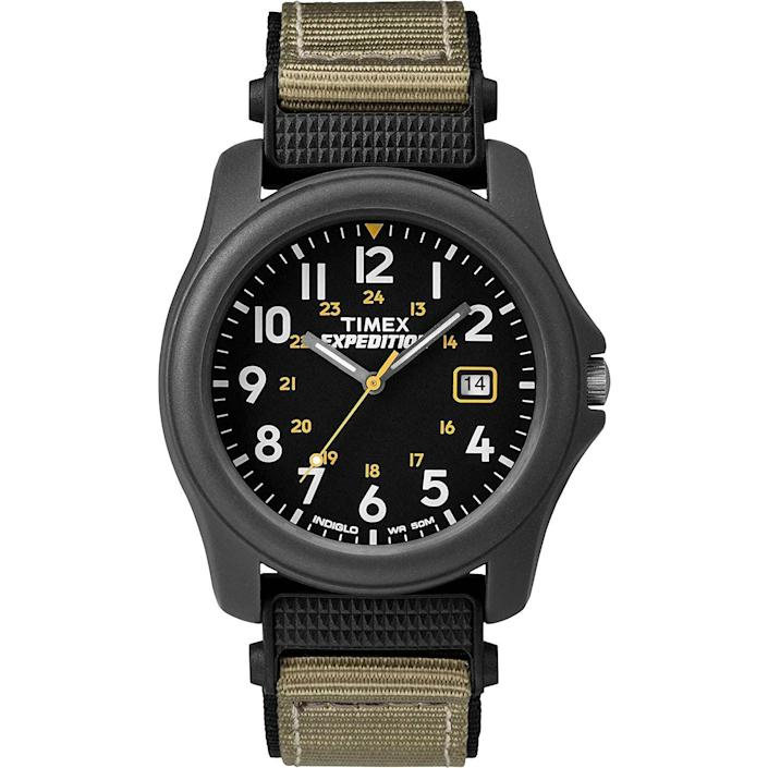"""<p><strong>Timex</strong></p><p>amazon.com</p><p><strong>$29.92</strong></p><p><a href=""""https://www.amazon.com/dp/B000SZNSVA?tag=syn-yahoo-20&ascsubtag=%5Bartid%7C10054.g.35351418%5Bsrc%7Cyahoo-us"""" rel=""""nofollow noopener"""" target=""""_blank"""" data-ylk=""""slk:Shop Now"""" class=""""link rapid-noclick-resp"""">Shop Now</a></p><p>For expert and aspiring expeditioners alike. </p>"""