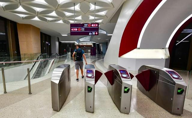 Qatar's new metro network opened just in time for the 2019 Club World Cup football tournament (AFP Photo/GIUSEPPE CACACE)