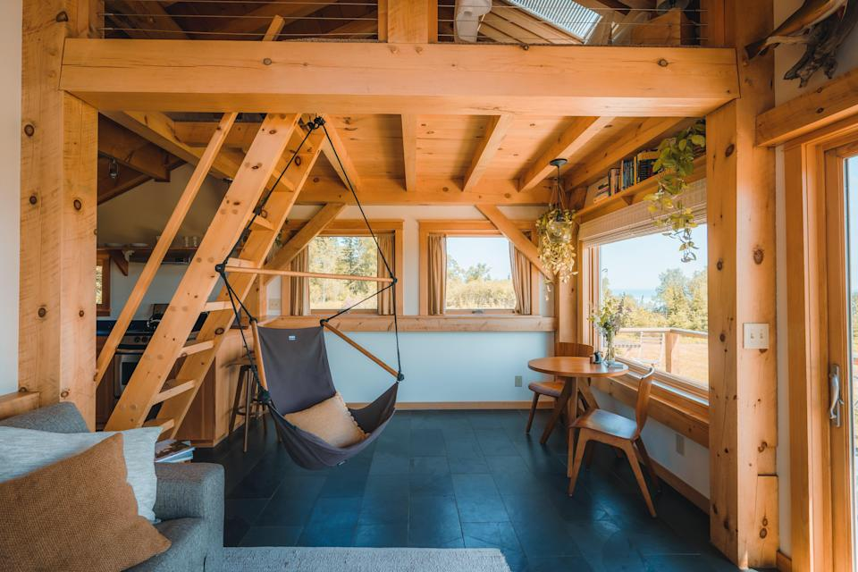 Book a few nights at Agua Norte, a timber-frame cabin overlooking Lake Superior.