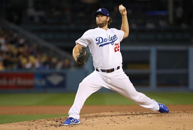"<a class=""link rapid-noclick-resp"" href=""/mlb/players/8180/"" data-ylk=""slk:Clayton Kershaw"">Clayton Kershaw</a> can opt out of his $215 million contract in 2018. (Getty Images)"