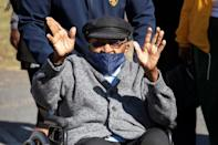 Desmond Tutu, Archbishop Emeritus and Nobel Peace Laureate, was among the first to be vaccinated in South Africa