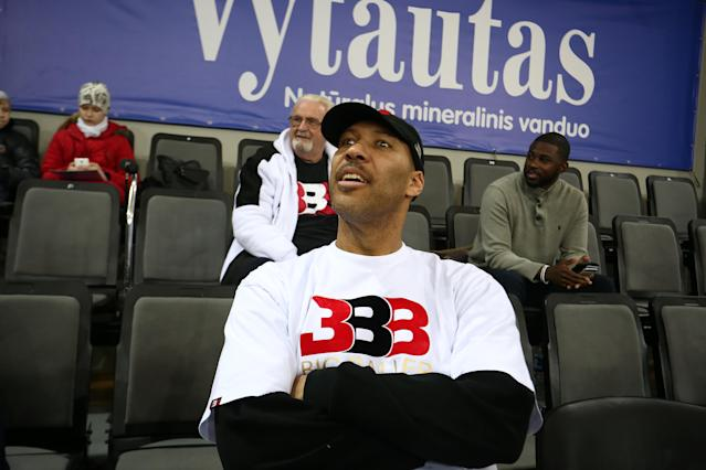 Unfortunately for the Lakers, LaVar Ball won't stop talking. (Getty)