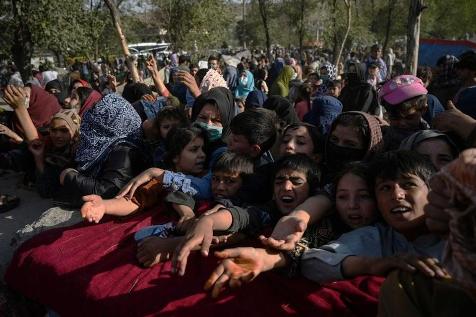 People left in Kabul are now facing increasingly desperate conditions (AFP via Getty Images)