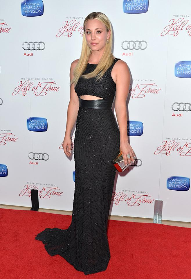 BEVERLY HILLS, CA - MARCH 11: Actress Kaley Cuoco attends the Academy of Television Arts & Sciences' 22nd Annual Hall of Fame Induction Gala at The Beverly Hilton Hotel on March 11, 2013 in Beverly Hills, California. (Photo by Alberto E. Rodriguez/Getty Images)