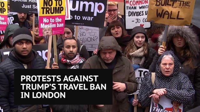 Anti-Trump protest in London
