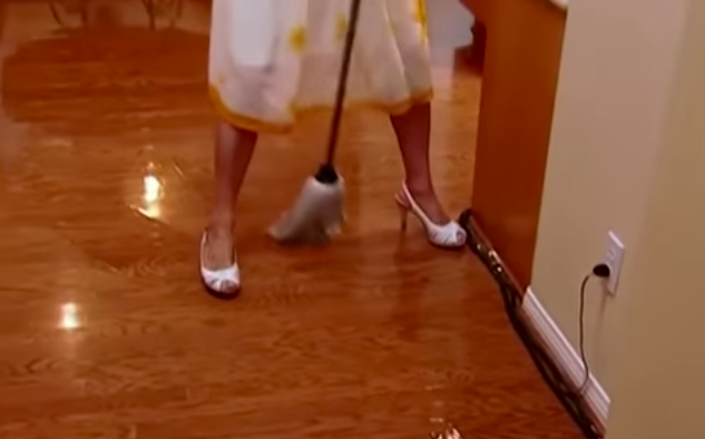 <p>Just want to point out that Paris *did* try to mop like a normal person first. Alas, this was the result. </p>