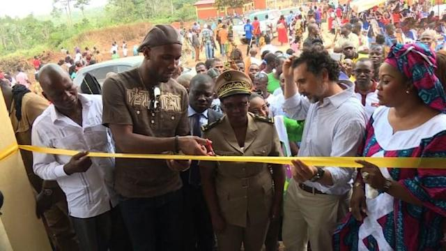 """The best way to have an impact on the future of people is to educate them,"" says football superstar Dider Drogba as he inaugurates a new school for 350 children in Guiberoua, a region of southwestern Ivory Coast whose economy is dominated by the cocoa trade."