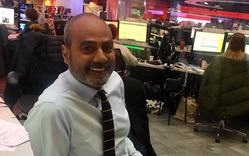 George Alagiah was receiving treatment for bowel cancer