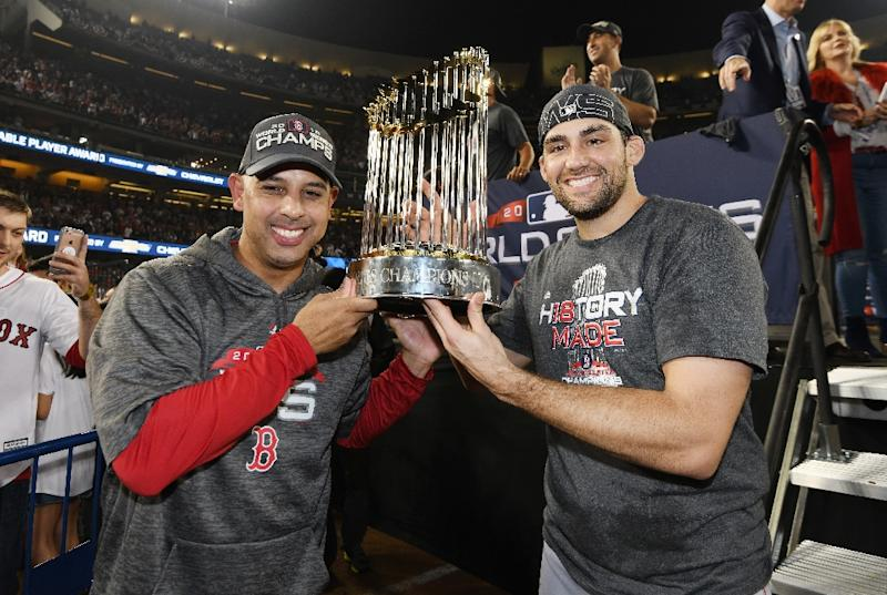 official photos 9be07 0d0f8 World Series MVP a dream for Red Sox fan Pearce