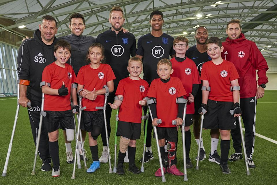Stars: The England pros with the youngsters (BBC)