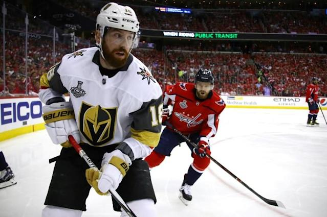 James Neal, shown in action during the 2018 Stanley Cup finals, will join his sixth NHL team next season after being acquired by the Edmonton Oilers in a three-player trade (AFP Photo/Gregory Shamus)
