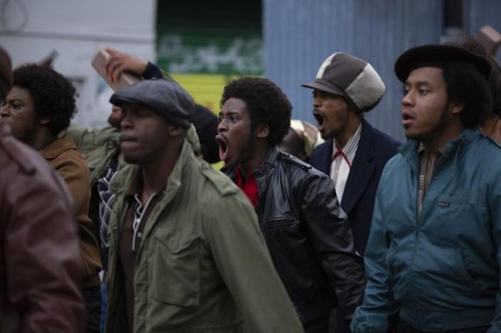 """Sheyi Cole(center) as Alex Wheatle in """"Alex Wheatle"""", part of the """"Small Axe"""" series directed by Steve McQueen. Small Axe is based on the real-life experiences of London's West Indian community and is set between 1969 and 1982."""