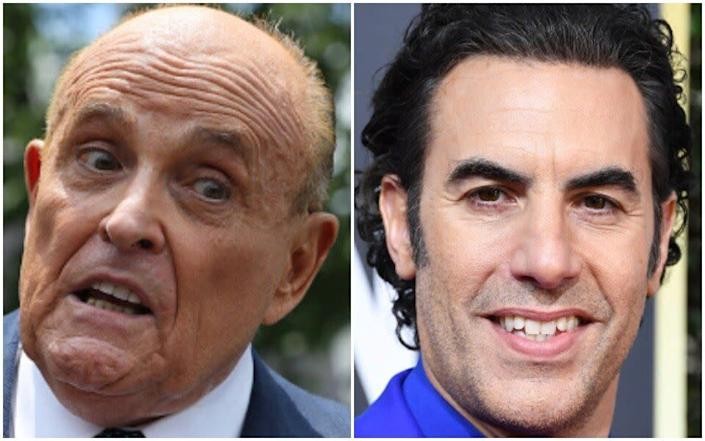 Rudy Giuliani realized later he had been pranked by Sacha Baron Cohen in a pretend interview that quickly went off the rails. (Photo: Getty)