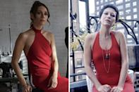 """<p>French actress Rebecca Daya plays famed Italian jewelry designer Elsa Peretti, one of Halston's muses, and friends. While <a href=""""https://www.forbes.com/sites/kristenshirley/2021/03/22/remembering-tiffany--co-jewelry-designer-elsa-peretti-1940-2021/?sh=1175060167d3"""" rel=""""nofollow noopener"""" target=""""_blank"""" data-ylk=""""slk:working as a model"""" class=""""link rapid-noclick-resp"""">working as a model</a> in New York City, Peretti began making jewelry for herself. She would go on to design for Tiffany & Co., debuting her first line in 1974. Peretti recently passed away in March 2021, at the age of 80. </p>"""