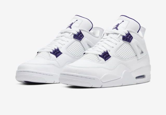 Nike debuts Air Jordan 4 in summer-ready 'Purple Metallic' colorway