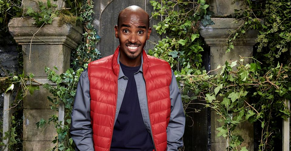 Sir Mo Farah is one of the celebs in the castle. (ITV)