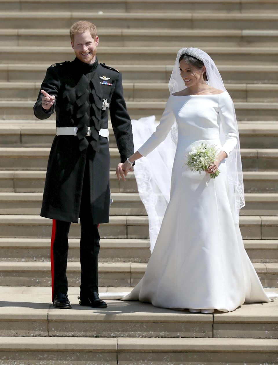 Meghan's main wedding dress, designed by Clare Waight Keller of Givenchy. (Photo: PA)