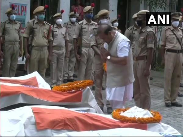 Assam Chief Minister Himanta Biswa Sarma paying tribute to the martyrs of the clash