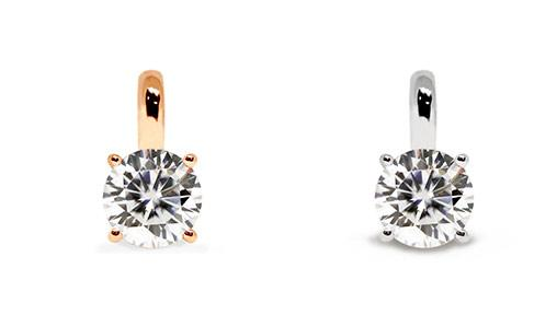 Valentine's Day Giveaway: 0.5 Carat Moissanite Solitaire 18k Gold Pendant Worth $288 from LeCaine Gems