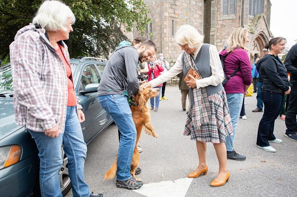 The Duchess of Cornwall joined the visit to Aberdeenshire (Wullie Marr/DCT Media/PA) (PA Wire)