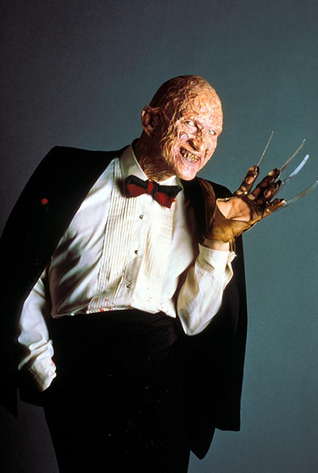 """<a href=""""http://movies.yahoo.com/movie/contributor/1800011776"""">Robert Englund</a> in New Line Cinema's <a href=""""http://movies.yahoo.com/movie/1802816835/info"""">A Nightmare on Elm Street</a> - 1984"""