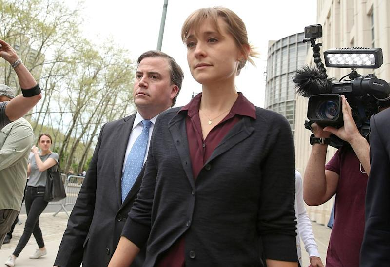 Allison Mack outside court on May   Jemal Countess/Getty