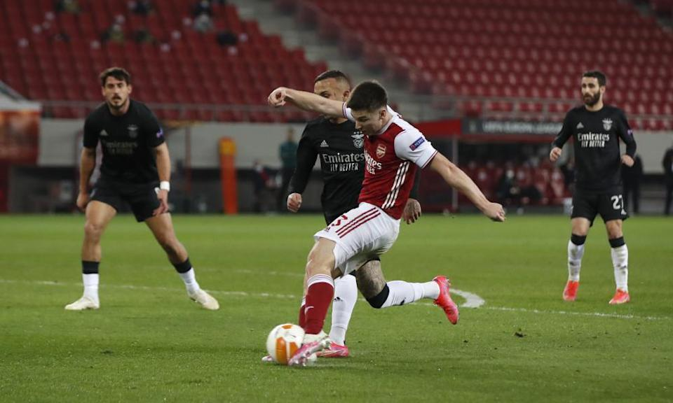 Kieran Tierney sparked Arsenal's comeback after equalising in the second half.