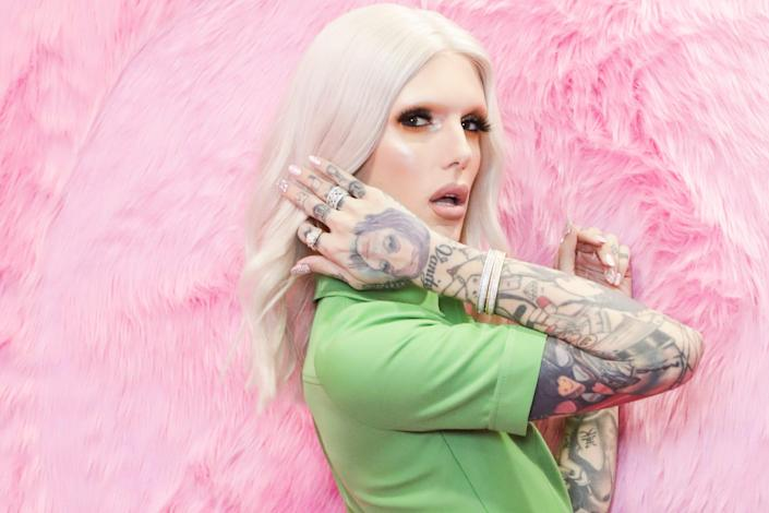 Jeffree Star poses for photos at Cosmoprof at BolognaFiere Exhibition Centre on March 17, 2018 in Bologna, Italy.