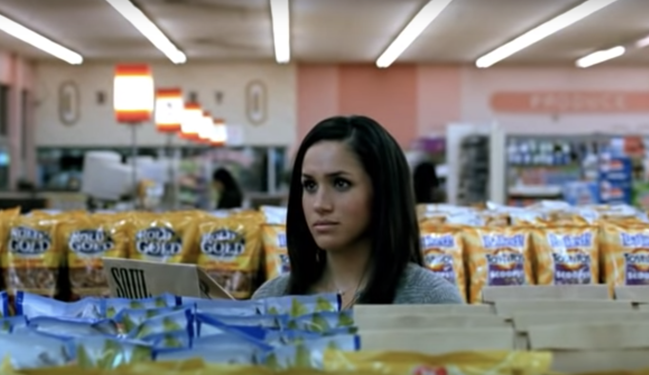 <p>Meghan Markle appeared in a commercial for Tostitos chips in 2009, a decade on she's now the Duchess of Sussex – just, wow. Photo: Inside Edition </p>