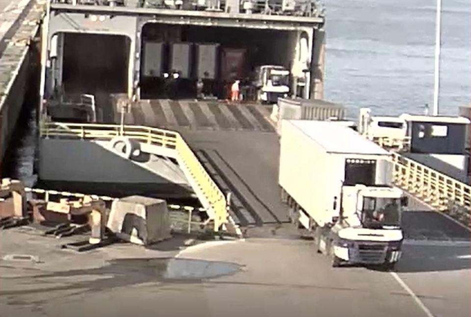 CCTV shows Eamonn Harrison, 23, driving a lorry onto a ship in Zeebrugge. (PA/Essex Police)
