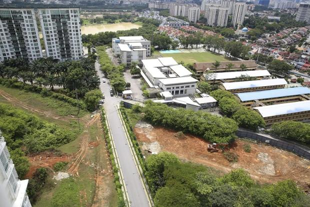 A view of the project site as seen on November 11, 2017, with clearing work visible and with hoardings yet to be set up around the portion in between Desa Eight and 1Desa. — Picture by Yusof Mat Isa