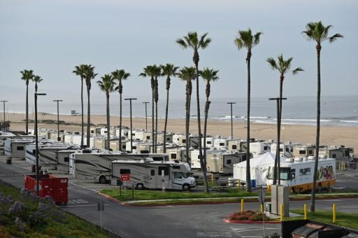The Dockweiler RV Park is one of five shelters commissioned by Los Angeles County to isolate COVID-19 patients