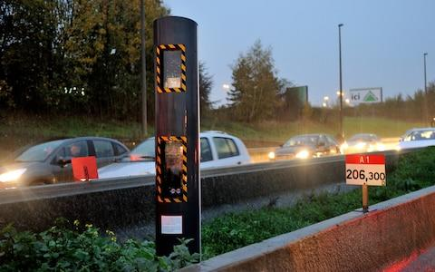 Speed camera in France speeding Brexit  - Credit: PHILIPPE HUGUEN /AFP