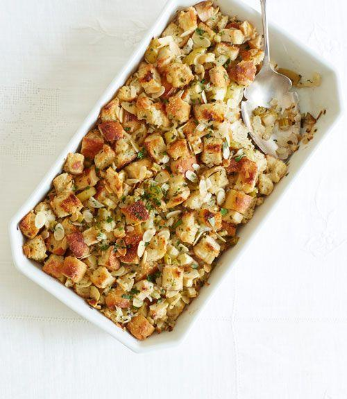 """<p>This festive fall stuffing is packed with fresh seasonal flavors and guaranteed to impress this Thanksgiving.</p><p>Get the recipe from <a href=""""https://www.delish.com/cooking/recipe-ideas/recipes/a36231/herb-apple-stuffing-recipe-ghk1113/"""" rel=""""nofollow noopener"""" target=""""_blank"""" data-ylk=""""slk:Delish"""" class=""""link rapid-noclick-resp"""">Delish</a>.</p>"""