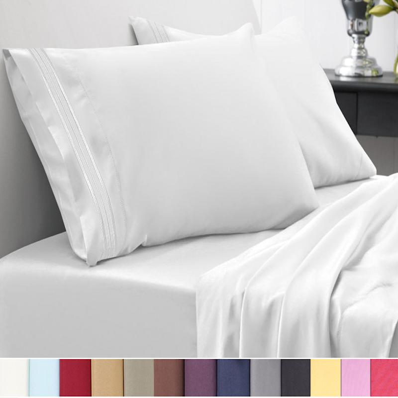1500 Thread Count Egyptian Quality Microfiber Deep Pocket Bedroom Sheet Set (Credit: Walmart)