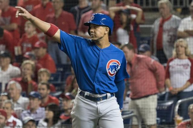"Veteran outfielder <a class=""link rapid-noclick-resp"" href=""/mlb/players/8717/"" data-ylk=""slk:Jon Jay"">Jon Jay</a> was a valuable contributor for the Cubs in 2017. (AP)"