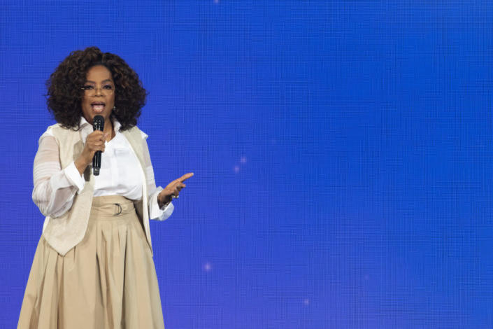 Oprah Winfrey speaks during Oprah's 2020 Vision: Your Life in Focus Tour presented by WW (Weight Watchers Reimagined) at Pepsi Center on March 07, 2020 in Denver, Colorado. (Photo by Tom Cooper/Getty Images)
