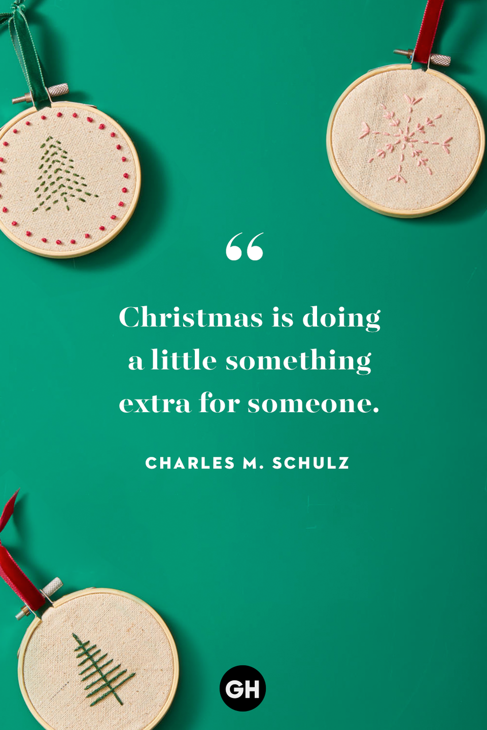 <p>Christmas is doing a little something extra for someone. </p>