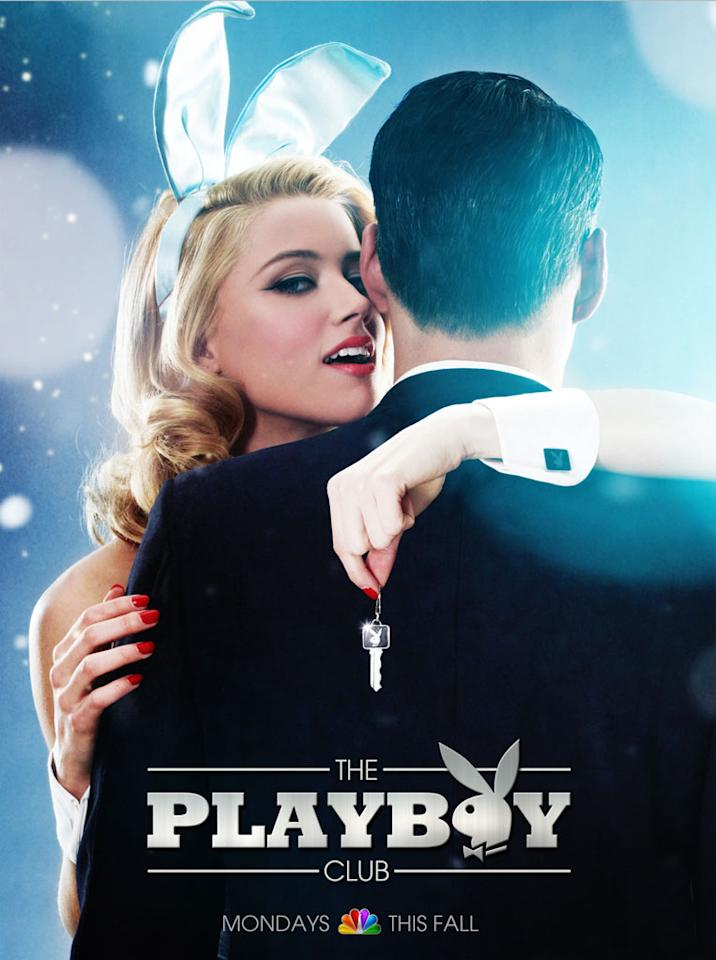 "Amber Heard as Maureen and Eddie Cibrian as Nick in ""The Playboy Club."""