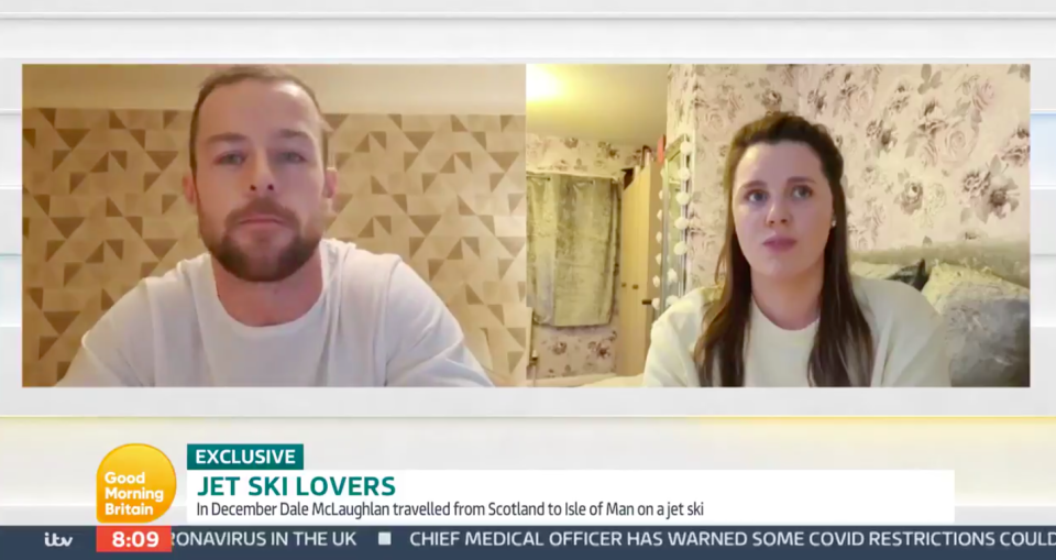 Dale McLaughlan met girlfriend Jessica Radcliffe in September. (ITV/Good Morning Britain)