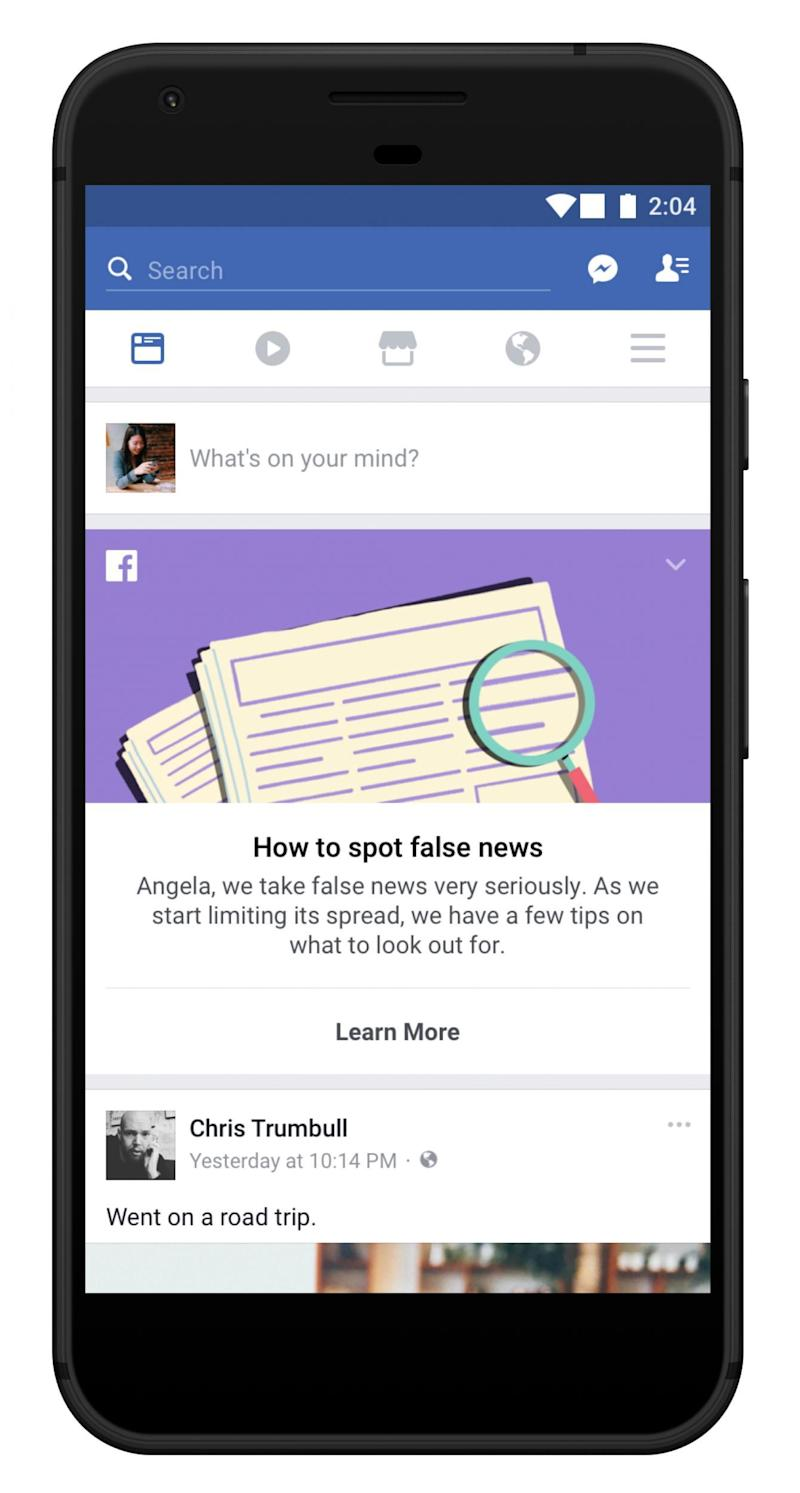 The new tool will help users spot fake news stories (PA)