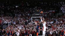 Dame, set, match: Damian Lillard nails buzzer-beater from the logo to complete 50-point, series-winning night