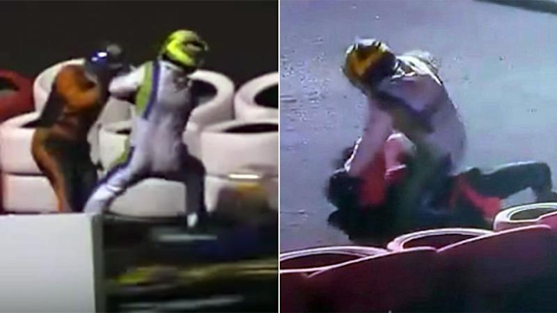 When karting goes horribly wrong. Pic: SporTV